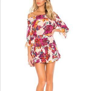Misa Los Angeles Darla Dress burgundy floral small